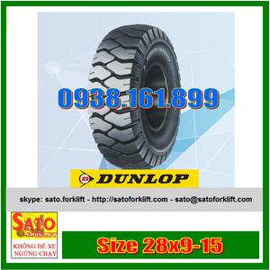 Bánh đặc xe nâng hiệu Dunlop size 28x9-15