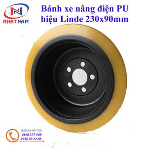 Bánh lái xe nâng điện Linde 230x90 - bánh xe nâng điện PU
