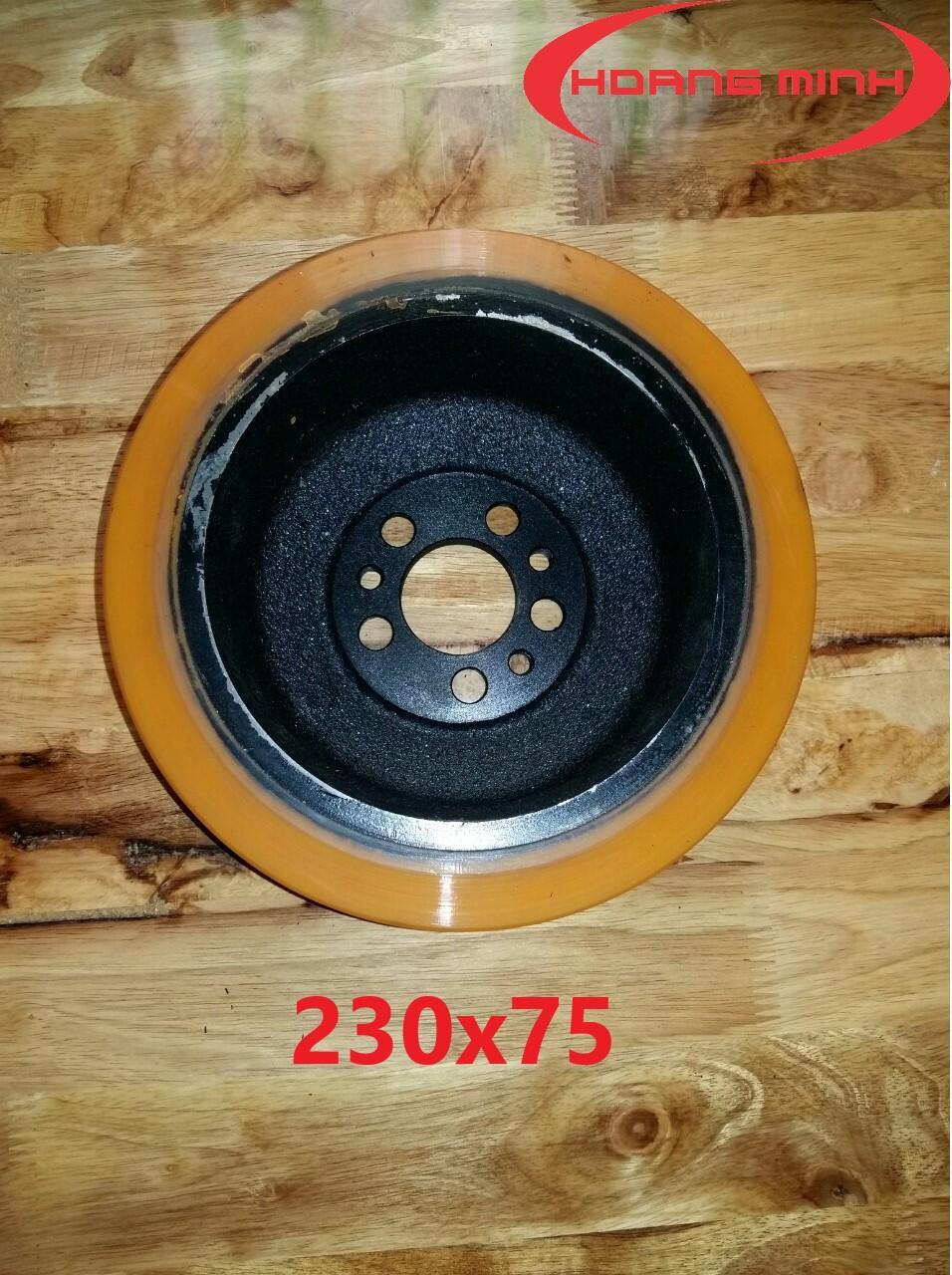 Bánh xe nâng điện Stacker 230x75- xenangtaynhat.com