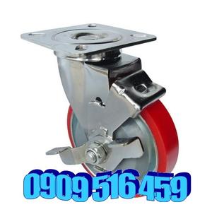 Bánh xe đẩy pu di động có khóa