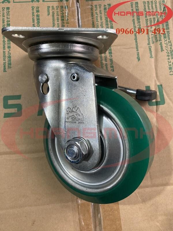 Bánh xe đẩy xoay có phanh UWJB-130 chất lượng cao