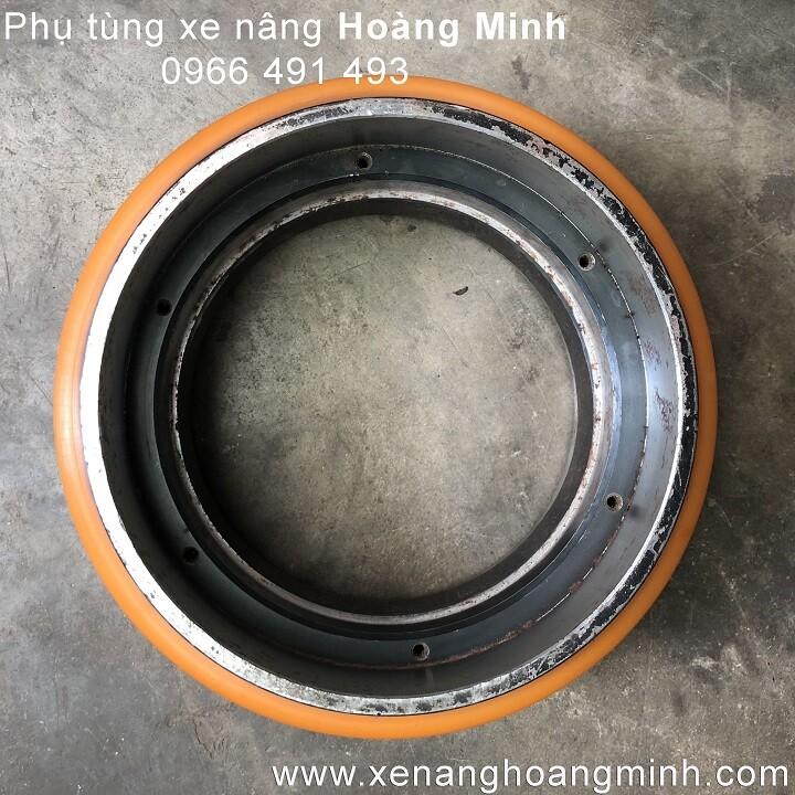 Bánh xe PU 210x70- phụ tùng xe nâng điện Hoàng Minh