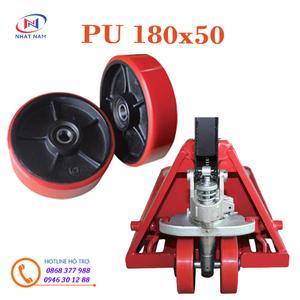 Bánh xe nâng tay PU 180x50 dùng cho các xe nâng tay