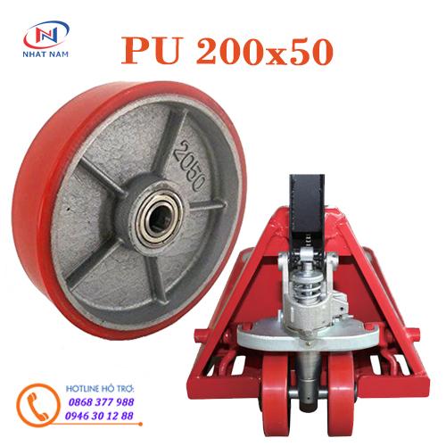 Bánh xe nâng tay PU 200x50 dùng cho các xe nâng tay - xe nâng tay cao