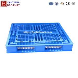 Pallet nhựa cũ KT: 1200x1000x150 mm (Xanh Dương Nặng 14Kg)
