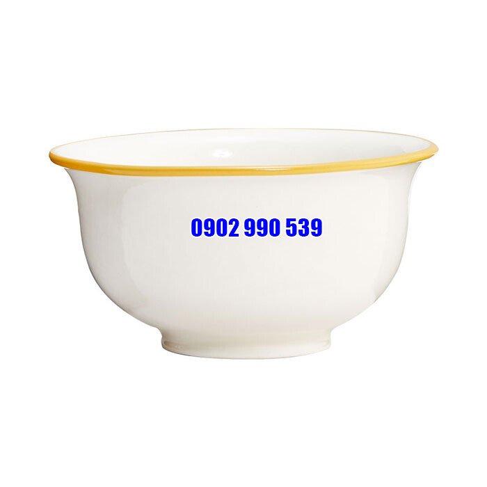 Bát ăn cơm viền vàng