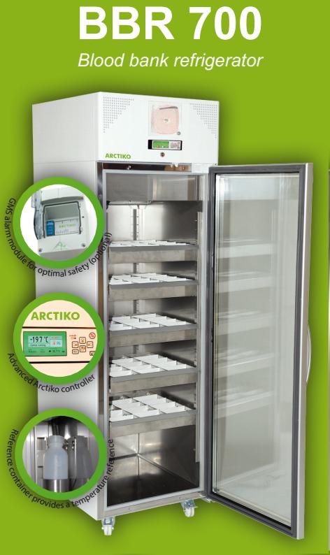 Tủ lạnh trữ máu, 628 lít, cửa kính Model:BBR700