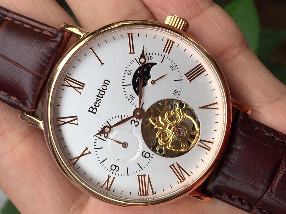 Đồng hồ nam tư động chính hãng Bestdon BD7118G-RSLB