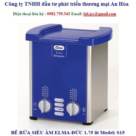 Bể rửa siêu âm Elma S15 không gia nhiệt