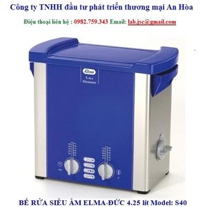 Bể rửa siêu âm Elma S40 không gia nhiệt