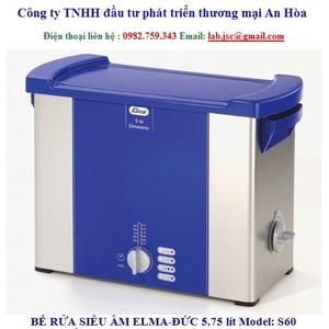 Bể rửa siêu âm Elma S60 không gia nhiệt