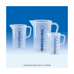 Beaker nhựa có chia vạch nổi màu xanh Vitlab