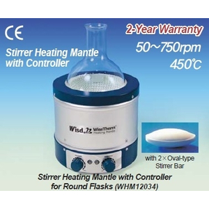 Bếp đun bình cầu đến 450℃ có khuấy từ