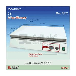 Bếp gia nhiệt có bề mặt lớn 310 x 620 mm, Wisetherm SHPLP-C-P, 350℃