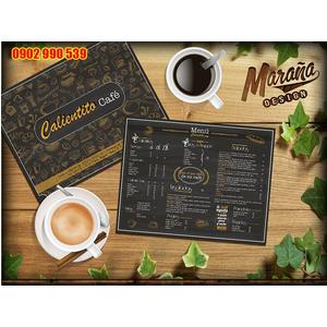 Bìa menu cafe