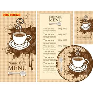 Bìa menu cafe đẹp