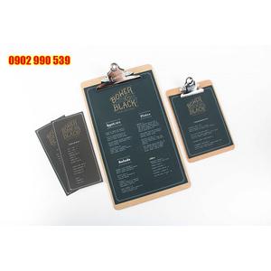 Bìa menu giá rẻ