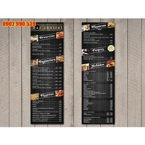 Bìa menu nhà hàng tiệc cưới