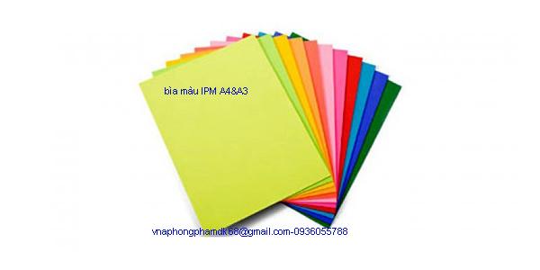 Bìa màu A4 &A3 IPM Indo