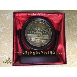 Biểu trưng đĩa xoay mặt khuê văn các quà tặng để bàn