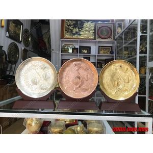 Biểu trưng trống đồng bản đồ Việt Nam đk 22cm vàng bạc đồng làm cúp trao giải