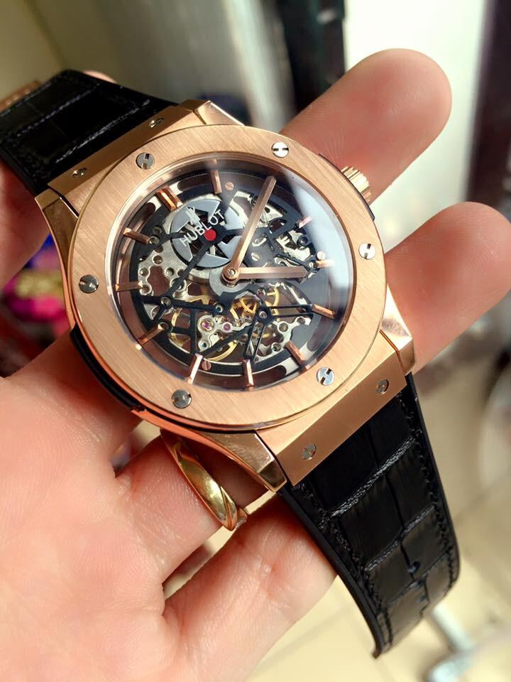 Đồng hồ nam Hublot skeleton tourbillon limited automatic HBL038