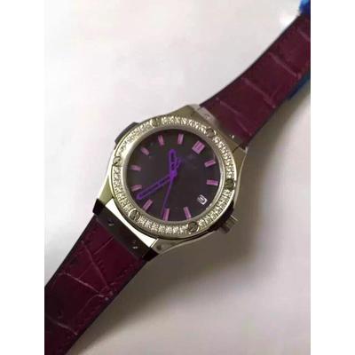 Đồng hồ nữ Hublot classic bazel diamond dial purple HBL049