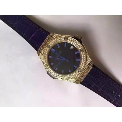 Đồng hồ nữ Hublot full diamond dial dark blue HBL057