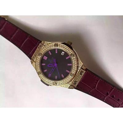 Đồng hồ nữ Hublot full diamond dial purple HBL058