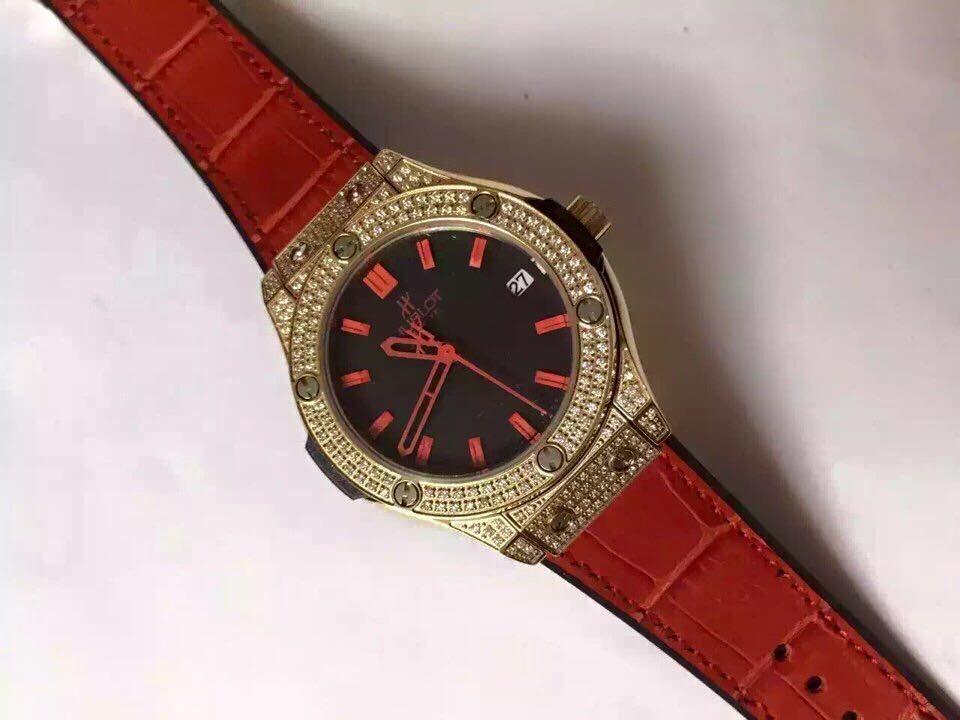 Đồng hồ nữ Hublot full diamond dial red HBL059