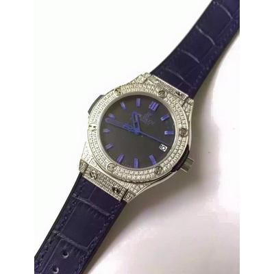 Đồng hồ nữ Hublot diamond stainless steel case dial dark blue HBL062