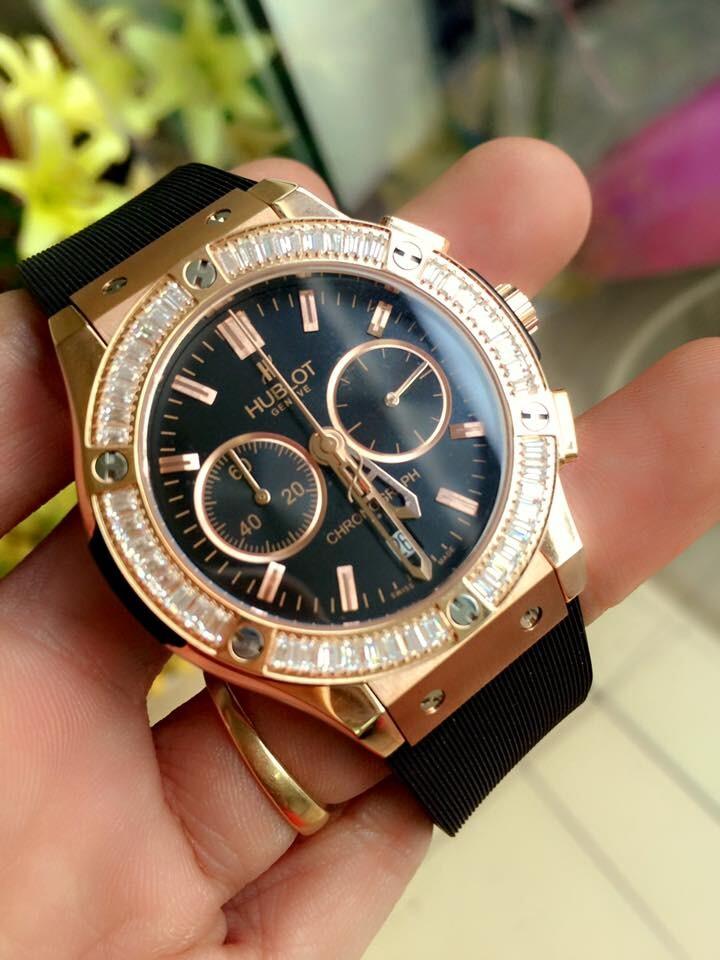 Đồng hồ nữ Hublot Fusion Chronograph dial balck HBL073