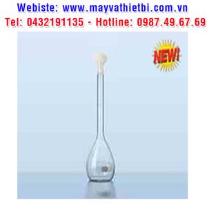 Bình định mức thủy tinh trắng, nút nhựa PE mới, class B - DURAN