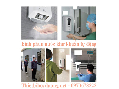 Bình phun, xịt khử khuẩn tự động, Cảm biến phun nước rửa tay không tiếp xúc