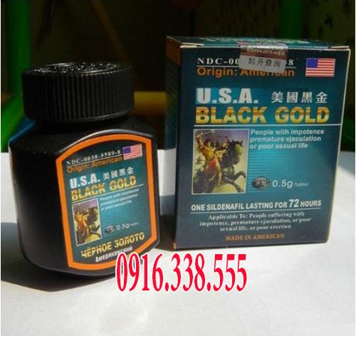 Thuốc Cương dương  Black Gold Usa 500 mg