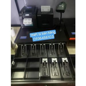 Bộ 4 thiết bị bán hàng: Máy in tem mã vạch, Máy in hóa đơn, Máy quét mã, Ngăn kéo đựng tiền