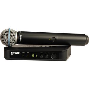 Bộ âm thanh không dây Shure BLX24 Handheld Wireless System With Beta 58A Mic (J10: 584 - 608 MHz)