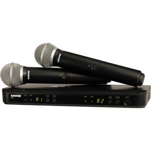 Bộ âm thanh không dây Shure BLX288/PG58 Dual-Transmitter Handheld Wireless System with 2 PG58 Mics (