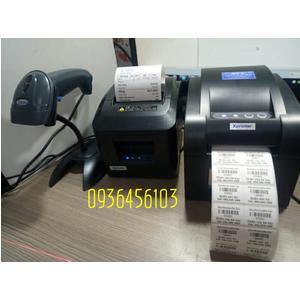 Bộ ba thiết bị bán hàng: Máy in tem mã vạch, Máy in hóa đơn, Máy quét mã vạch đơn tia