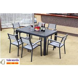 Bộ bàn ghế gỗ quán ăn cao cấp