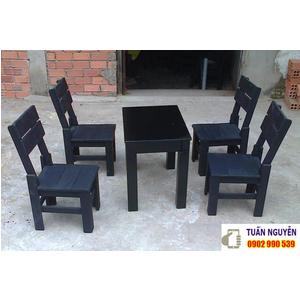 Bộ bàn ghế gỗ thông