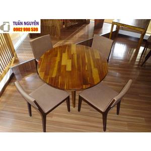 Bộ bàn ghế gỗ tròn