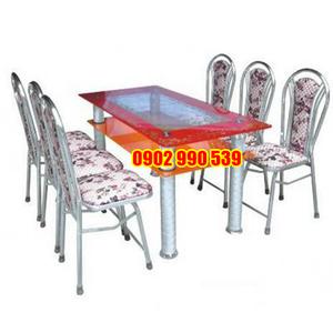 Bộ bàn ghế mặt kính cường lực
