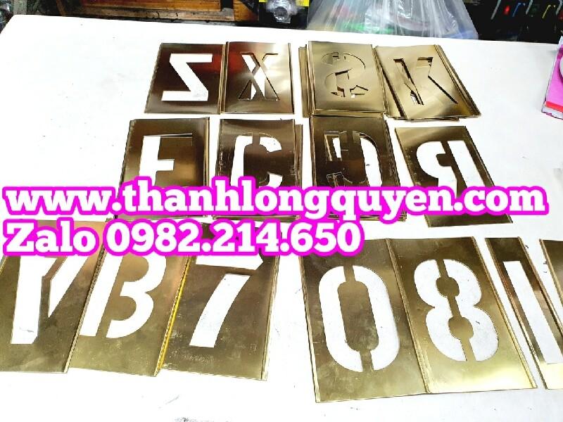 Bộ chữ số bằng đồng thau phun sơn 50mm 75mm 100mm