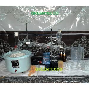 Bộ chưng cất thủy tinh 1000 ml - chiết xuất tinh dầu bằng hơi nước - dụng cụ thí nghiệm tinh dầu