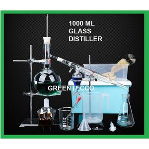 Bộ chưng cất thủy tinh 1000 ml - chiết xuất tinh dầu bằng hơi nước mini