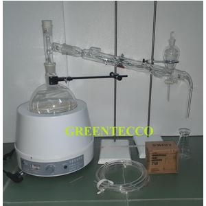 Bộ chưng cất thủy tinh 2000 ml -chiết xuất tinh dầu bằng hơi nước mini