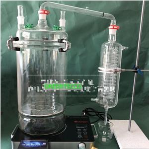 Bộ chưng cất thủy tinh chiết xuất tinh dầu bằng hơi nước mini 5000 ml (5 lít)