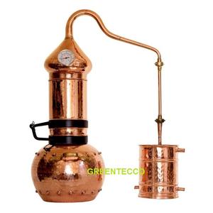 Bộ chưng cất tinh dầu bằng hơi nước 20 lit chất liệu đồng đỏ - Bồ Đào Nha