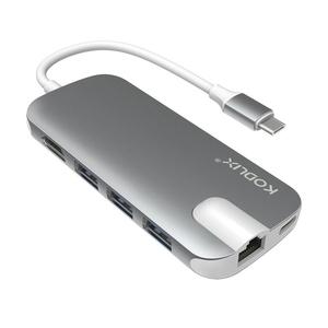 Bộ chuyển đổi KODLIX N30H Adapter USB-C to HDMI/Ethernet/USB 3.0x3/USB-C/Card Reader